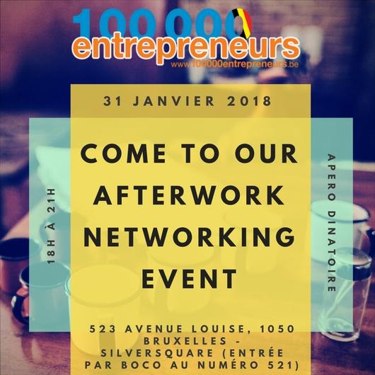 invitation Afterwork pour entrepreneurs - 31 janvier 2018
