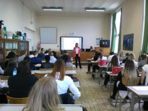 Sophie Geilenkirchen de WorkInJoy à la Haute Ecole Charlemagne à Verviers