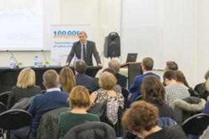 Inauguration de la table-ronde de Namur par Mr Emmanuel Pieters, du cabinet Ministre Denis Ducarme